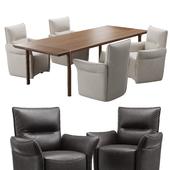 natuzzi mama chair CH10 kendo table E021