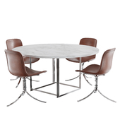 fritz hansen PK9 chair PK54 table