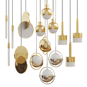 Collection of chandeliers Lampatron;Matthew Mccormick;Lee Broom 2