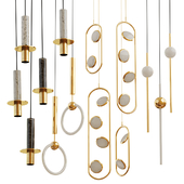 Set from suspendeds chandeliers  Lee Broom