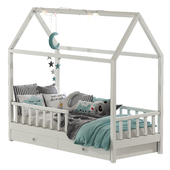 Детская кровать с колоннами 6