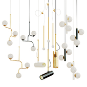 Set suspended chandeliers in modern style  Current Collection; ROMATTl;Lampatron; Monika Mulder