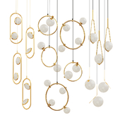 Set of chandeliers in modern style ROMATTI