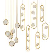 Set from suspendeds chandeliers in modern style  Lampatron