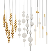 Set of chandeliers Lampatron;Lee Broom;Matthew Mccormick two