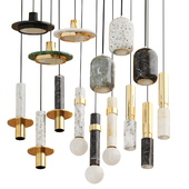 Set of marble chandeliers in modern style Lampatron two