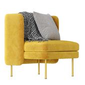 BLUDOT Bloke Velvet Lounge Chair