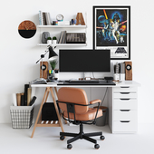 Workplace set with decor. Sk_1