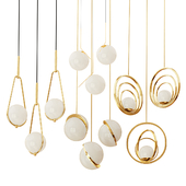 Set of suspended chandeliers Lampatron,  Romatti, Lee Broom three