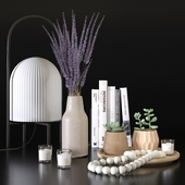Декоративный набор с лавандой и суккулентами