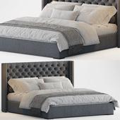RH Lawson Shelter Diamond Tufted Fabric Bed