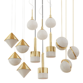 Collection of Chandeliers Lampatron;lee Broom;maytoni;three