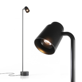 Reel freestanding lamp