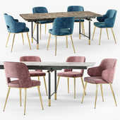 Calligaris Monogram table Foyer chair set