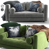 Article Seven Sofa_green & gray