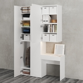 Ikea   Ophus Wardrobe with 6 Drawers and Table