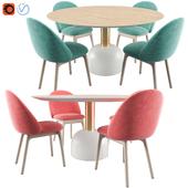 IOLA Chair & ILLO Table By Miniforms