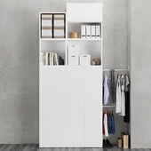 IKEA   OPHUS  Wardrobe with 5 doors and 3 drawers