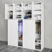 Ikea   Ophus Wardrobe with Sliding Door and 8 Drawers
