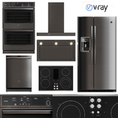 GE Profile 5 Piece Kitchen Appliance V-Ray