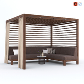 Садовая Беседка с диваном Equinox Cabana by TUUCI