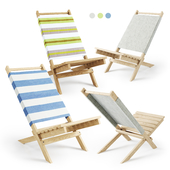 Pepitu Deck Chair / Wooden beach chair