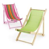 Пляжное кресло / Wooden beach chair