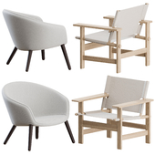 Canvas + Ditzel Lounge Chairs by Fredericia