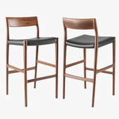 Moller Model 77B bar stool