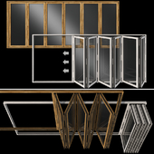 Складывающиеся витражные деревянные двери /  Folding stained Glass Wooden Doors