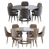 Luxdeco Torre Adima side chair and dining table