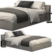 Meridiani luise lightgray bed