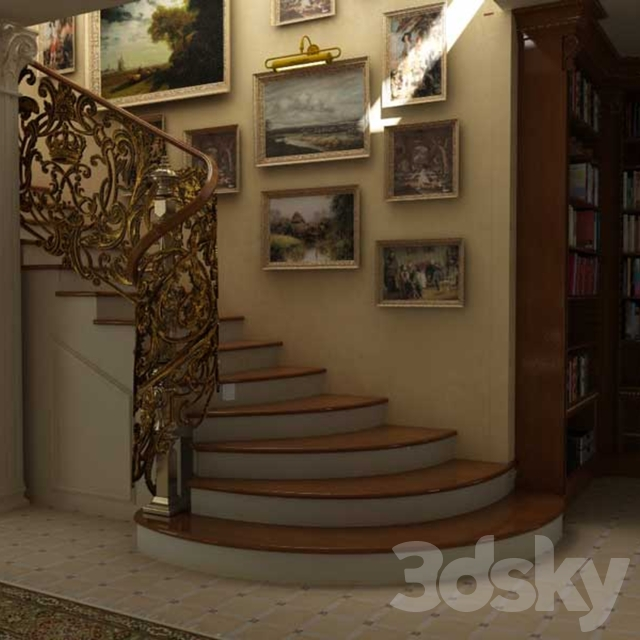 Staircase in the classical style