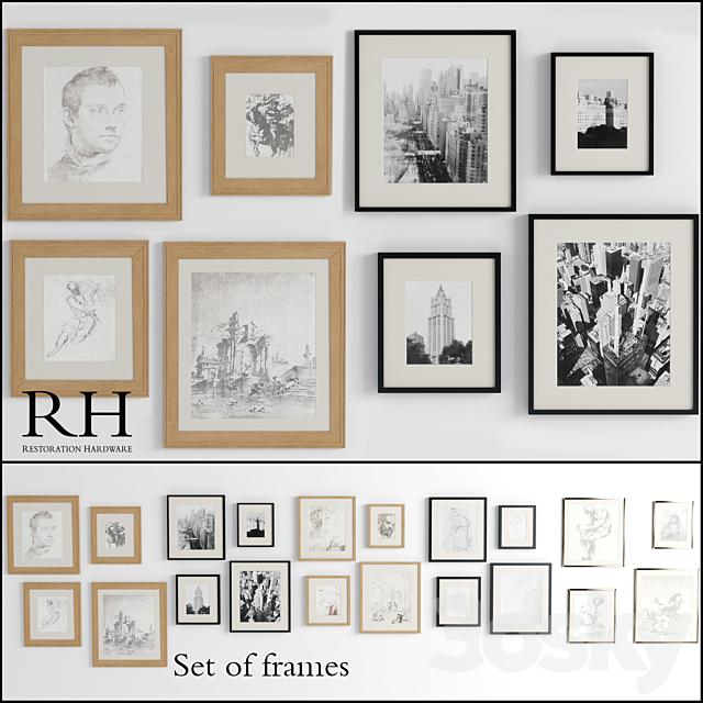 Restoration Hardware Set Frames