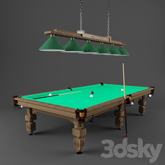 "Billiard table and lamp ""Earl Grey"""