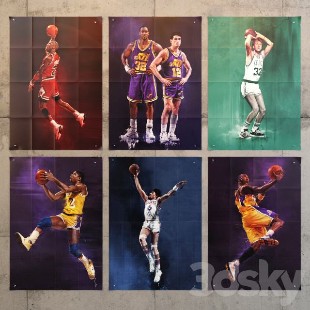 """Series of posters - posters """"NBA Legends"""""""