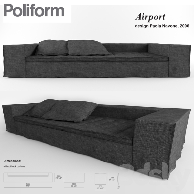POLIFORM. Airport sofa