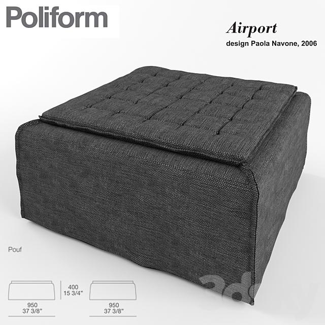 POLIFORM. Airport pouf