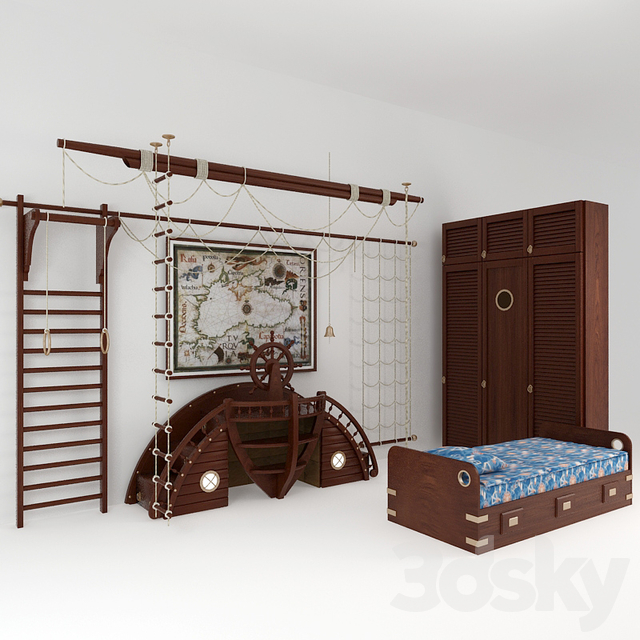Children 39 S Play In A Marine Style, Marine Style Furniture