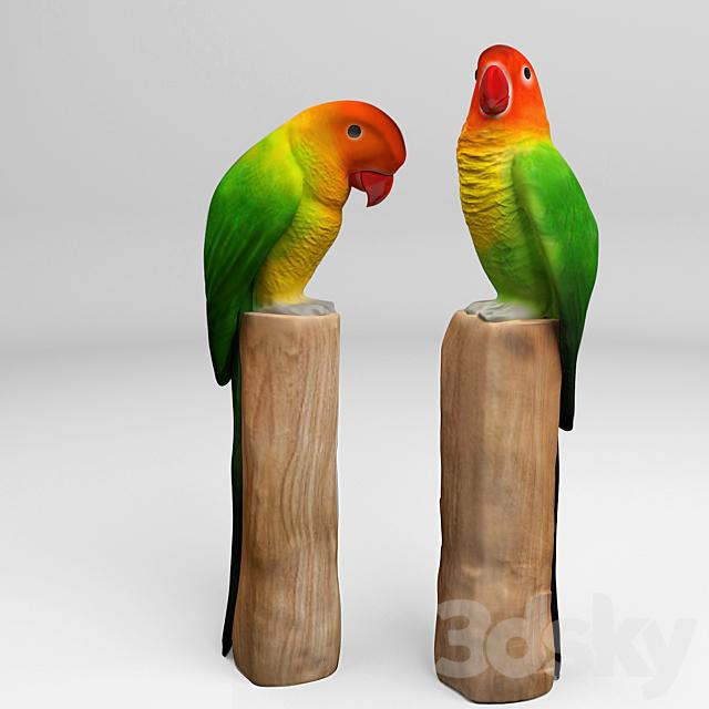 """""""Parrots lovebirds"""""""
