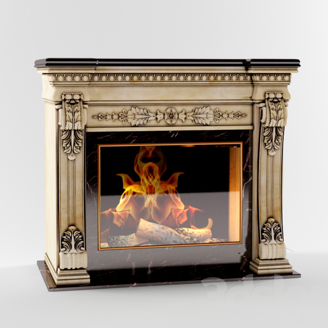 Fireplace in classic style