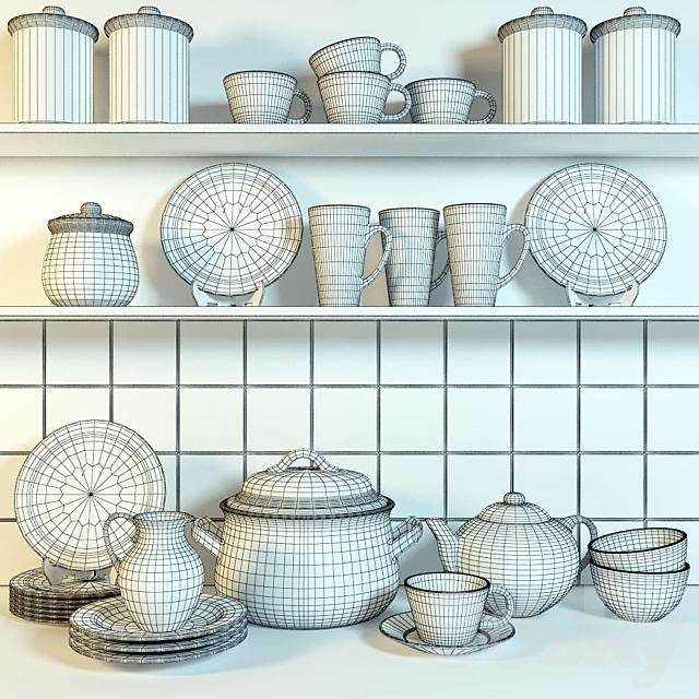 Country kitchen utensils
