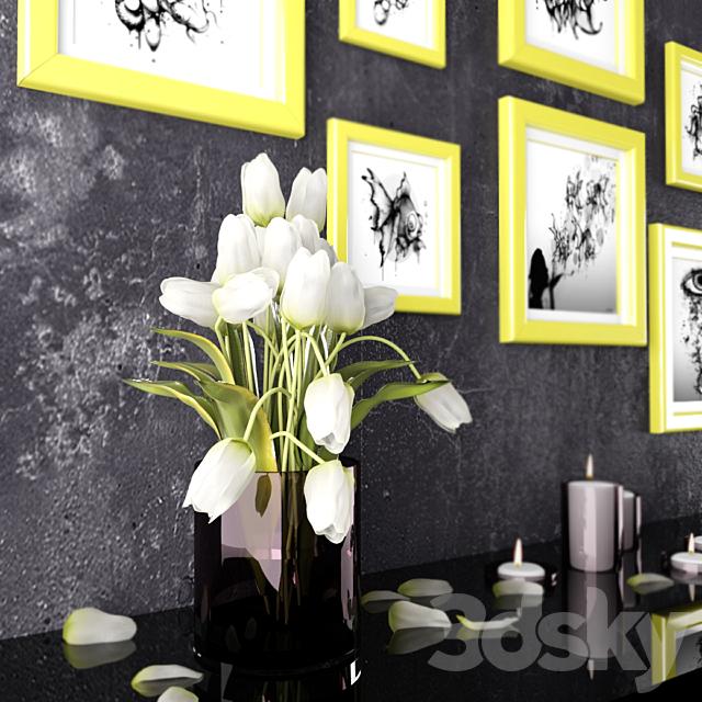 Decor paintings + tulips