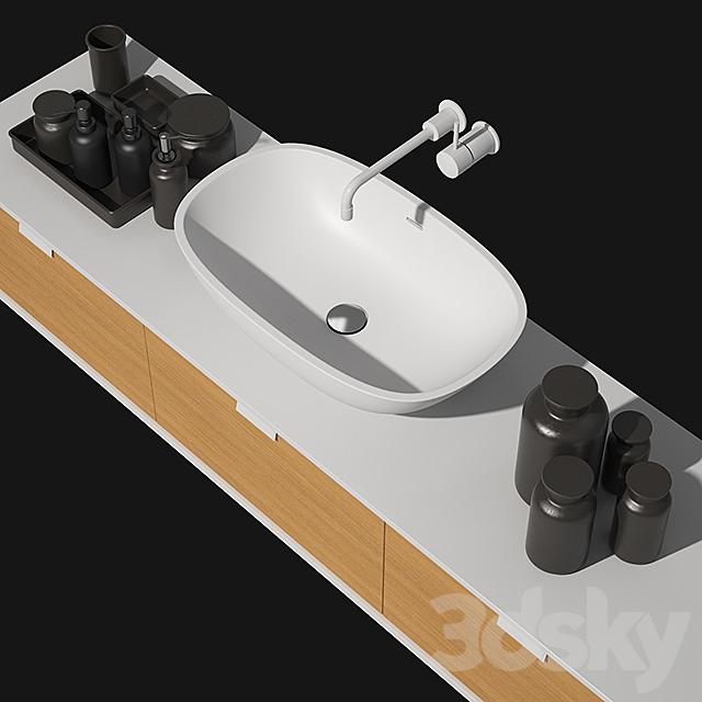 Falper Washbasin with RH Charcoal Bottles