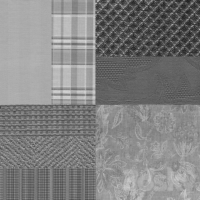 A set of interior fabrics