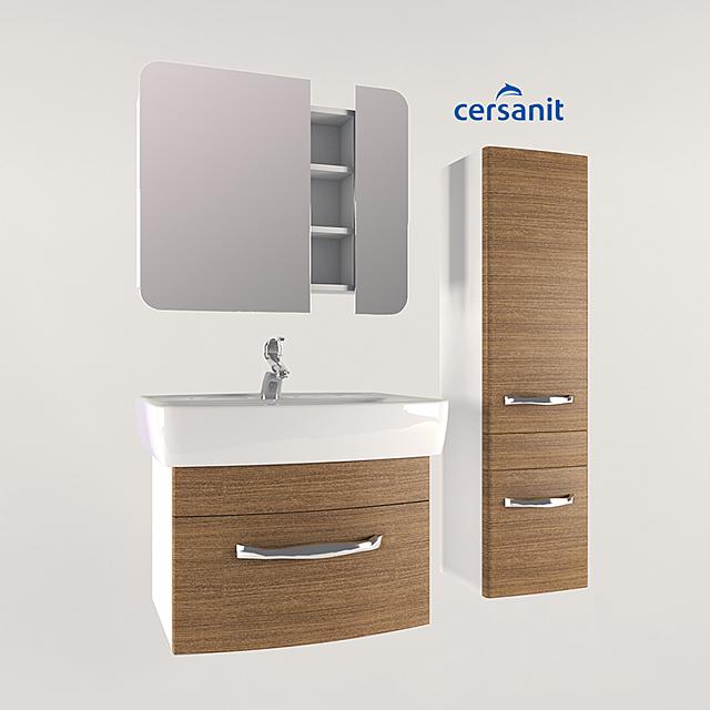 Set of bathroom furniture cersanit pure