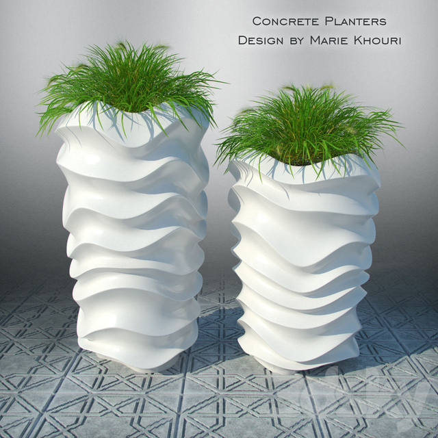 Concrete beds by Marie Khouri