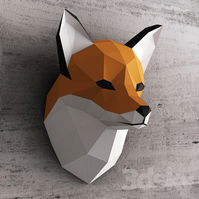 3d Models Other Decorative Objects Fox Head