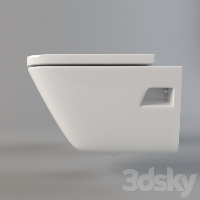3d Models Toilet And Bidet Toilet And Bidet Suspended Roca The Gap