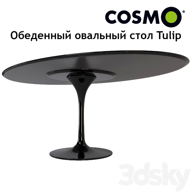 Dining oval table Tulip